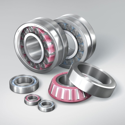 NSK Molded-Oil bearings are available in ball, spherical roller and tapered roller bearing types